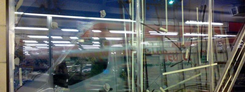 Notdienst bei Aldi von der Glaserei Glasteufel